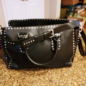 Rebecca Minkoff black midnighter leather satchel